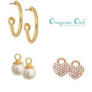 Origami Owl Jewelry - Origami Owl Silver Pearl dangle earrings